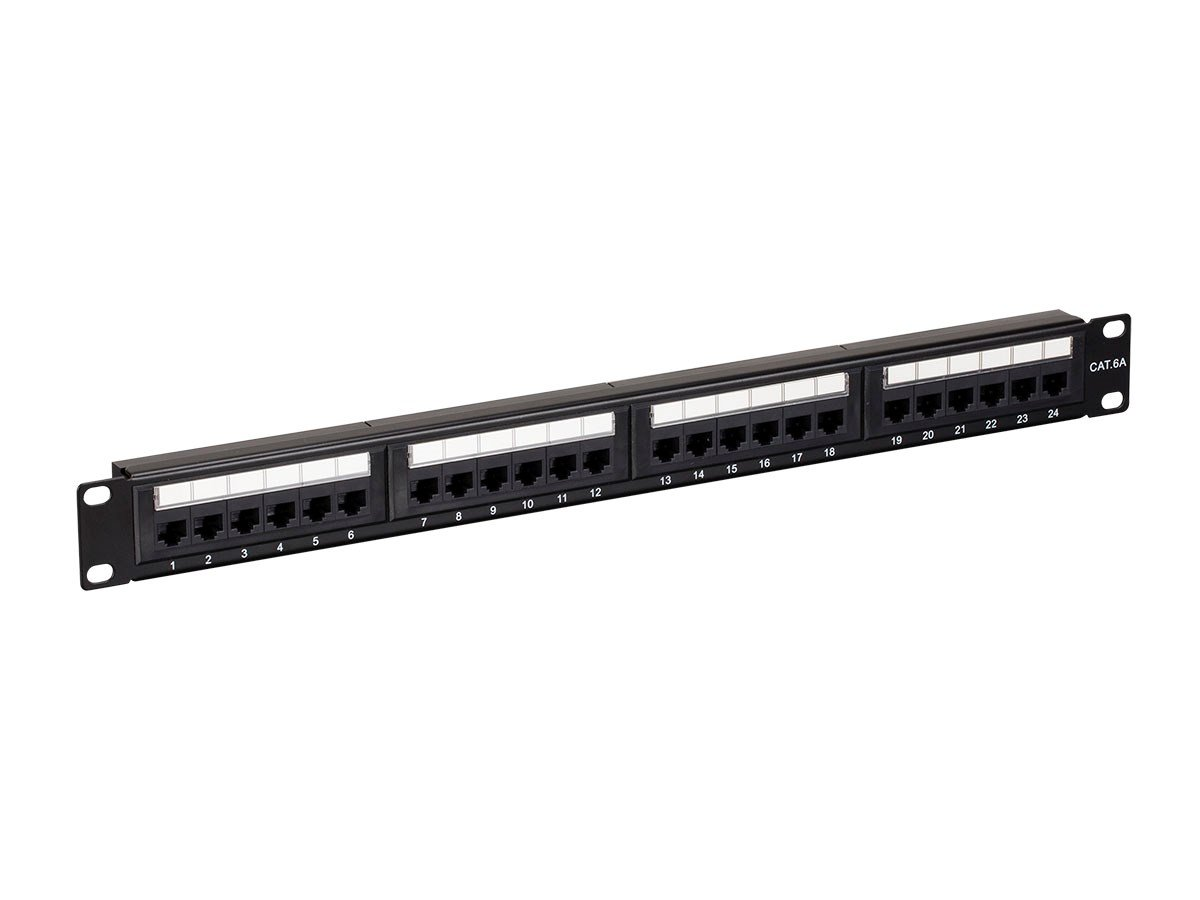 Amazon.com: Monoprice Cat6A UTP 19-inch 1U Patch Panel, 24-port: Electronics