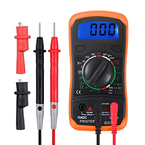 Proster Autoranging Multimeters Mini Digital Multimeter Pocket Voltage Tester AC DC Current Voltage Meter Voltmeter Low Voltage Curcuit Meter Ohm DMM with Backlight LCD