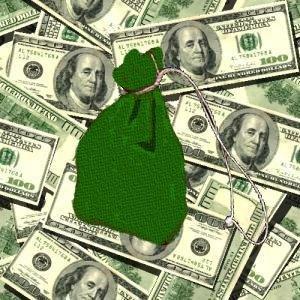 Money Drawing Gris Gris Bag