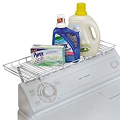 Stop knocking over boxes and bottles and declutter the top of your dryer with Household EssentialsTM Laundry shelf. Household's space saving rack, vinyl coated so it won't scratch your appliances, mounts over the top of your washing machine o...