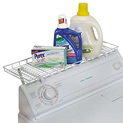 Delightful Household Essentials Over The Washer Storage Shelf, White