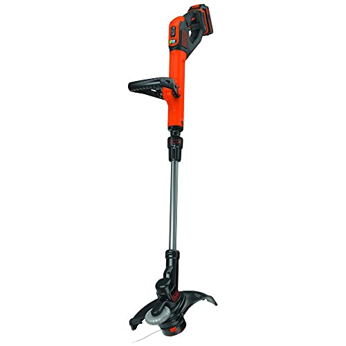Black Decker LST522R 20V MAX 2.5 Ah Cordless Lithium-Ion 12 in. 2-Speed String Trimmer Edger Kit Renewed