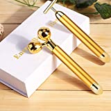 Face Massager Roller, Beauty Bar Golden, 3D