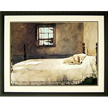 Master Bedroom By Andrew Wyeth Dog Sleeping 20x17 Inches Posters Prints