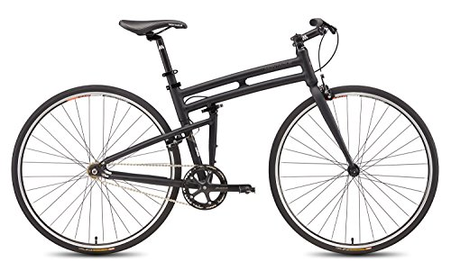 New Montague Boston Folding 700c Pavement Hybrid Bike Matte Black 21″