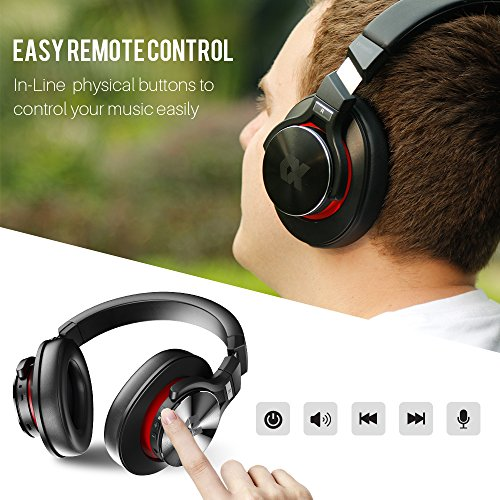 Proxelle Wireless Headphones Over Ear Active Noise Cancelling Portable Bass HiFi Stereo Wired and Wireless Headsets with Airplane Adapter for Travel Work iPhone Android PC Cell Phones TV Serenity by Proxelle (Image #4)