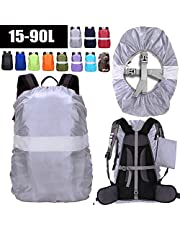 ZM-SPORTS 15-90L Backpack Rain Cover with Reflective Strip,with Vertical Adjustable Fixed Strap Avoid to Falling,Gift with Portable Storage Pack