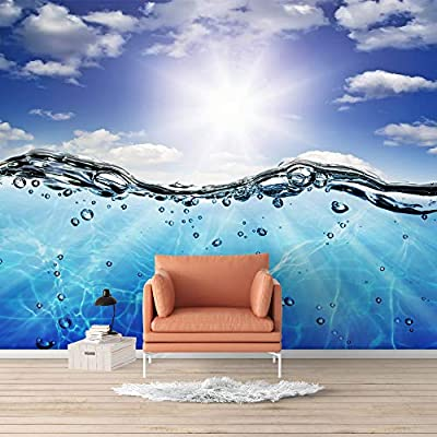 Incredible Piece, Made For You, Wall Mural Blue Ocean Deep Sea Removable