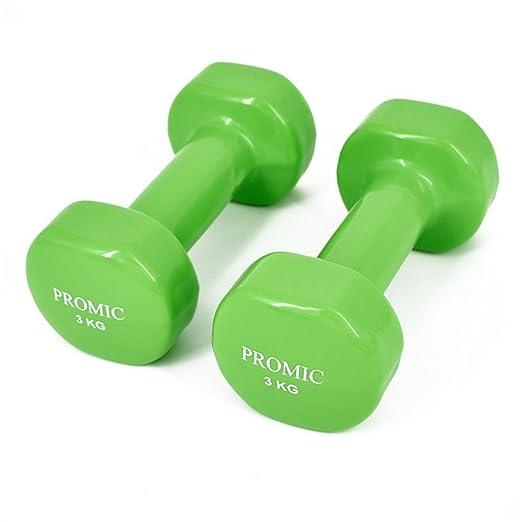 Promic 0,5 kg – 10 kg pesas de mano deluxe, sólido, con ...