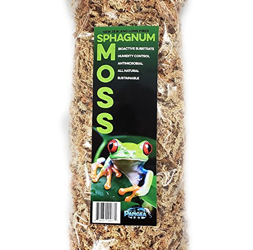 (Pangea New Zealand Sphagnum Terrarium Moss, for Reptiles, Frogs, Orchids)