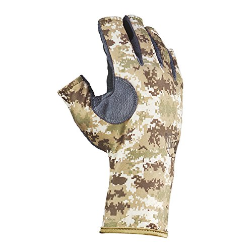 Buff Pro Series Angler 3 Gloves, Bug Slinger Water Camo Green, Medium/Large
