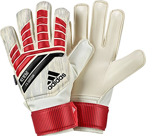 (adidas Performance ACE Fingersave Junior Goalie Gloves, Bright Red, Size 5)