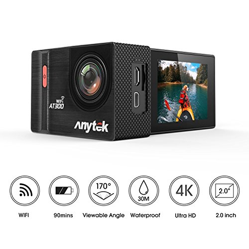 Anytek AT300 Action Camera 4K WiFi Sports Cam 20MP 2.0 In...
