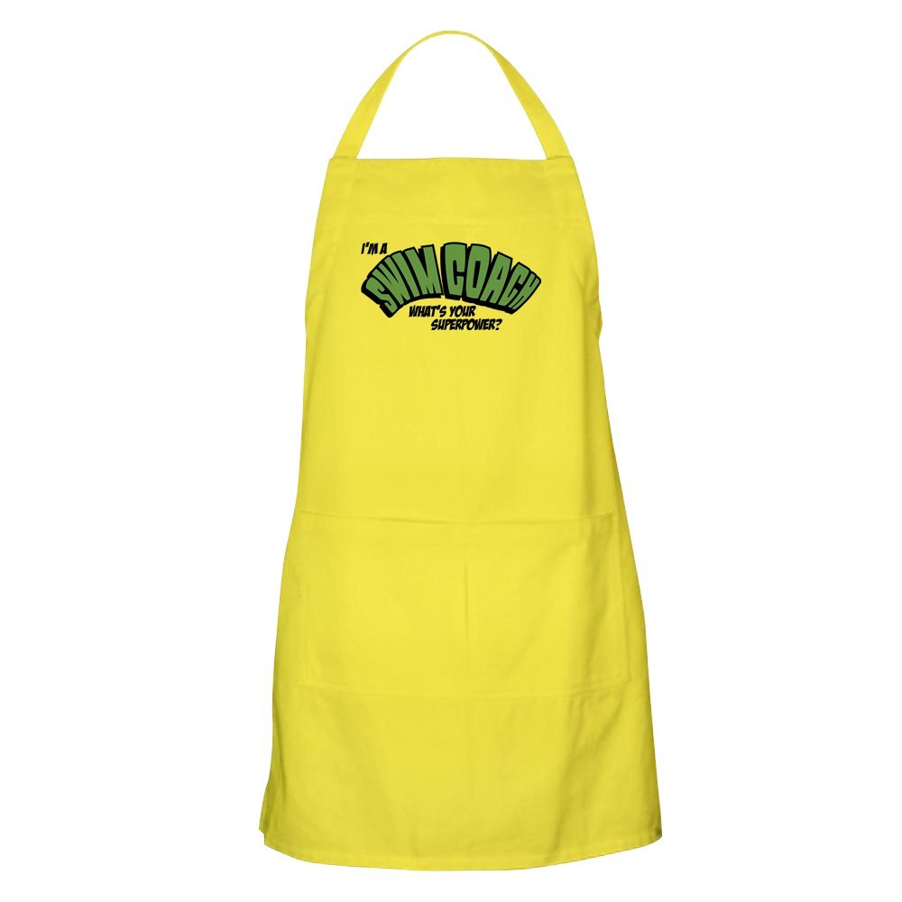 CafePress I'm A Swim Coach What's Your Grilling エプロン イエロー 009778566929A30  レモン B077PZC6KL