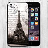 iPhone 5C Case Apple 5C Black Cover TPU Rubber Gel - Restoring ancient ways is the Eiffel Tower