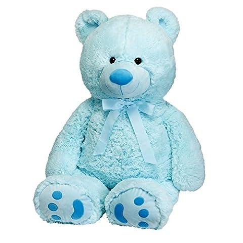 Huge Teddy Bear - Blue - Blue Plush Bear