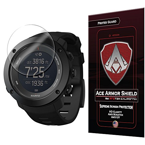 Price comparison product image Ace Armor Shield Shatter Resistant Screen Protector for the Suunto Ambit 3 Vertical Smart Watch with free lifetime Replacement warranty
