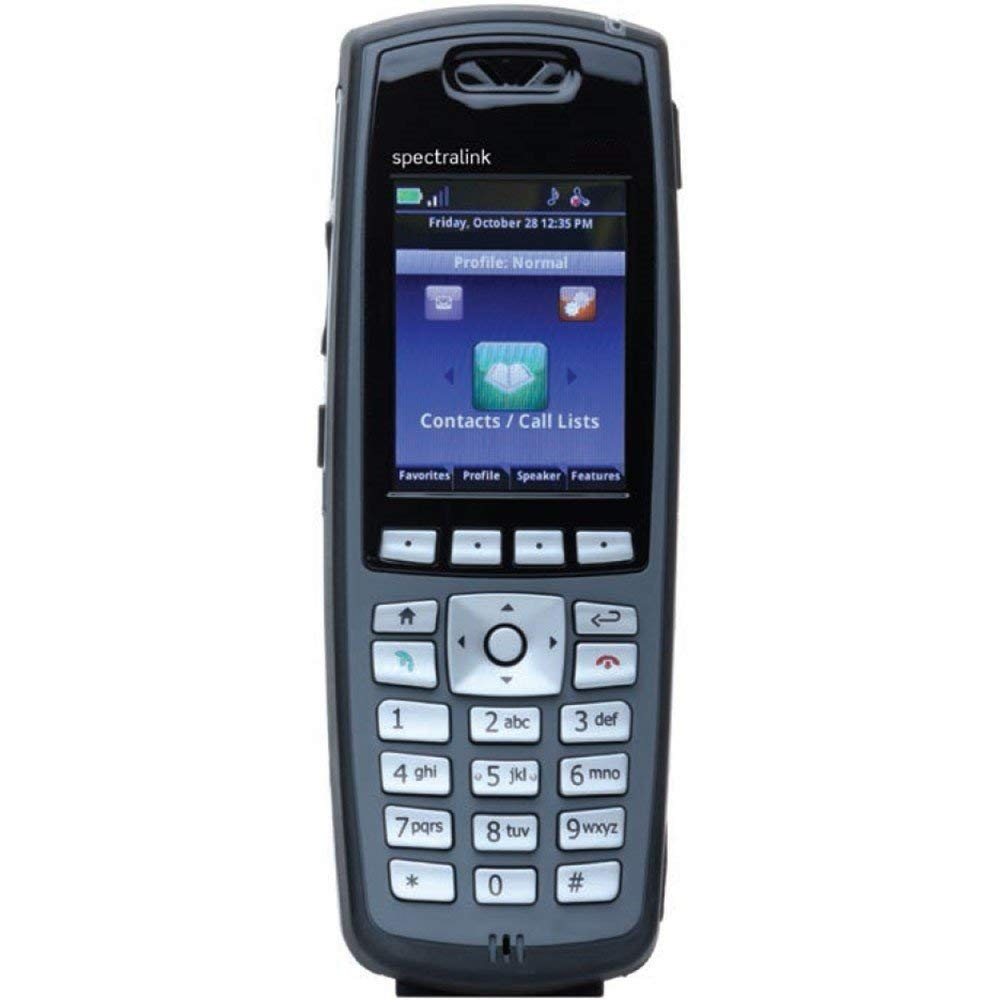 Spectralink 8440 Black Handset Without Lync Support, Battery and Charger Sold Separately - Part Number 2200-37148-001 (Renewed)