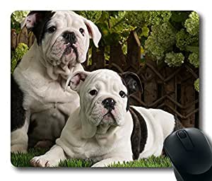 Bulldog Puppies Gaming Mouse Pad Personalized Hot Oblong Shaped Mouse Mat Design Natural Eco Rubber Durable Computer Desk Stationery Accessories Mouse Pads For Gift - Support Wired Wireless or Bluetooth Mouse