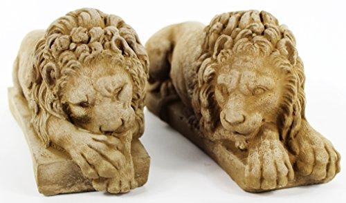 Vatican Lions Pair Home and Garden Statues Italian Statuary Decor - Statue Pair Garden