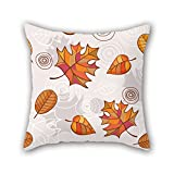 NICEPLW 18 x 18 inches / 45 by 45 cm leaf cushion cases ,each side ornament and gift to indoor,couples,gril friend,car,home,play room