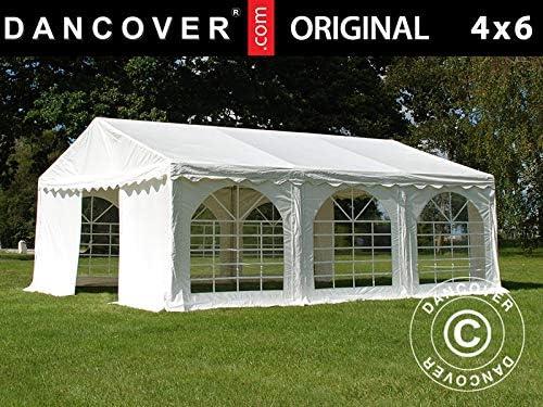 Dancover Carpa para Fiestas Carpa Eventos Original 4x6m PVC, Blanco: Amazon.es: Jardín