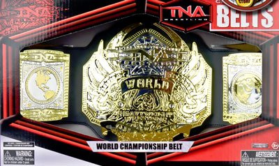 TNA Wrestling Series 1 Championship Belt World Championship by Jakks Pacific