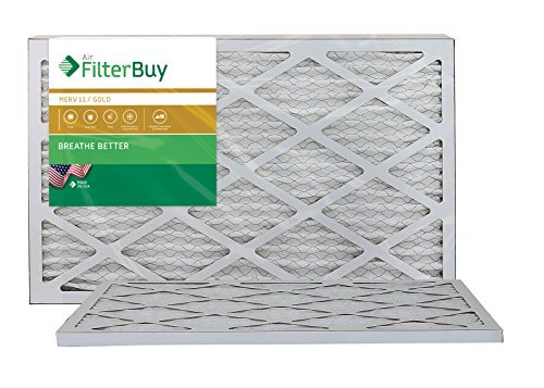 AFB Gold MERV 11 12x24x1 Pleated AC Furnace Air Filter. Filters. 100% produced in the USA. by FilterBuy