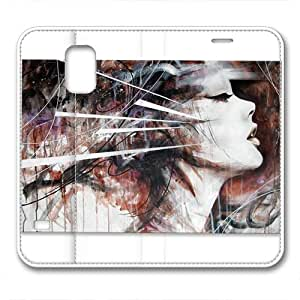 Samsung S5 leather Case,Samsung S5 Cases ,Blending the beauty side faces Custom Samsung S5 High-grade leather Cases