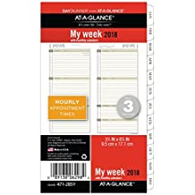 """AT-A-GLANCE Day Runner Weekly / Monthly Planner Refill, January 2018 - December 2018, 3-3/4"""" x 6-3/4"""", Loose Leaf, Size 3, (471-285Y)"""