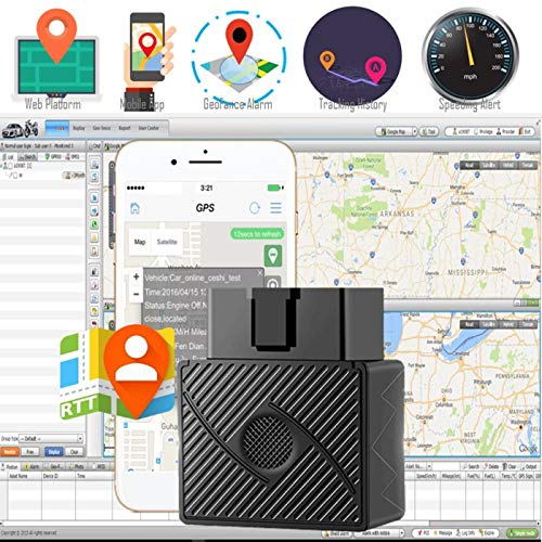 TOOGOO OBD II GPS Tracker Real Time Car Truck Tracking Device Spy System  Locator Alarm