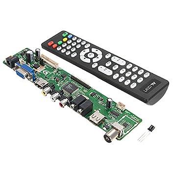 Calli V56 lcd tv controlador universal de tarjeta driver PC ...
