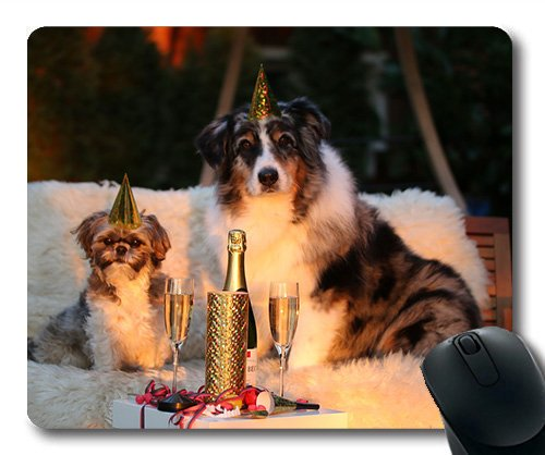 Dogs Galore Mouse Pad,New Year's Day New Year's Eve New Years Eve 2018,Dogs Mouse mat