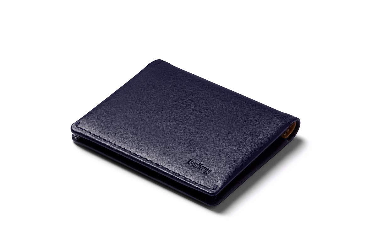 Bellroy Leather Slim Sleeve Wallet - Navy