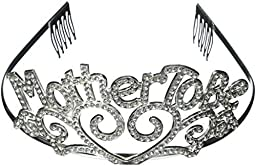 Metal Mother To Be Tiara Baby Shower Mom Gift Crown (4-Pack)