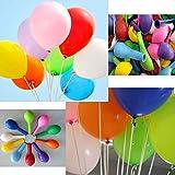 KUMEED 100PCS Light Pink Latex Balloons Vivid Color