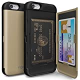 iPhone 6 Case, TORU [CX PRO] iPhone 6S Wallet Case - [CARD SLOT][ID HOLDER][KICKSTAND] Protective Hidden Wallet Case with Mirror for iPhone 6/6S - Gold