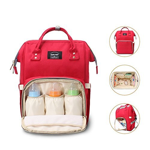 Multi-function Diaper Bag Backpack Travel Nappy Bag with Ins