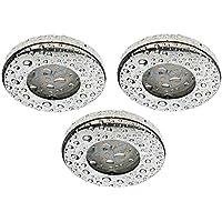 Trango® Juego de 3IP44, foco para baño/ducha/sauna, incluye3x