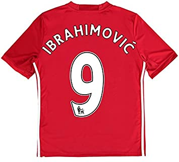brand new 309b4 f0e66 Zlatan Ibrahimovic #9 Manchester United Home Red Devils Soccer Jersey  Shirts 2016-17