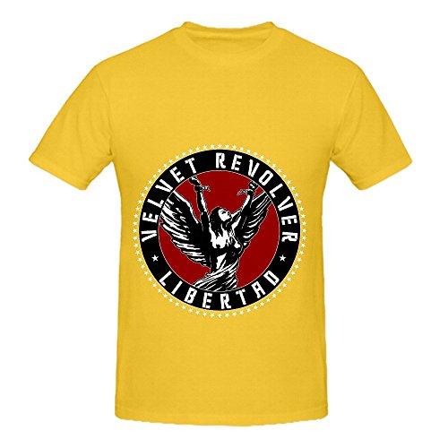 velvet-revolver-libertad-tour-soundtrack-men-crew-neck-casual-tee-shirts-yellow