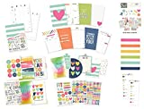 Carpe Diem Fitness Planner - A5 Inserts and Accessories - Fitness Tracking Insert Set, Tab Dividers, Dashboards, Doc It Journal, Bookmark Tablet and Stickers
