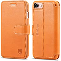 Shieldon Leather Case for iPhone 7 / iPhone 8 (Black or Brown)