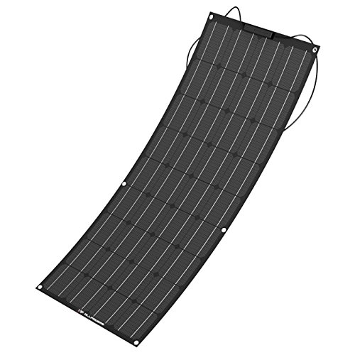 ALLPOWERS 100W 18V 12V Flexible Solar Panel Charger(with ETFE Layer, MC4 connectors) Semi Bendable Water-Resistant Solar Charger for RV, Boat, Cabin, Tent, Car, Trailer, Other Off Grid Applications