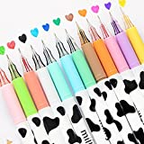 NYKKOLA Diamond Cute Gel Pen Milky Cow Pens,12PCS 0.35mm Extra-Fine Ballpoint Pen Perfect for Office School Supplies Gifts fo