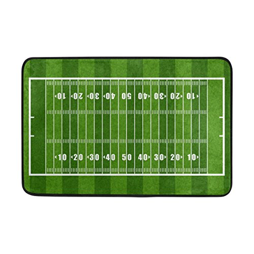 ALAZA American Football Field Doormat Entrance Mat Floor Mat Indoor Outdoor Bathroom Mat Non-Slip 23.6x15.7 inch