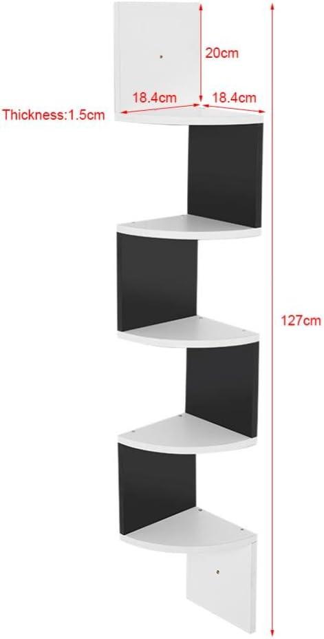 GOTOTOP moderno 5-nivel Scaffale Angolare Montabile a parete rack di archiviazione per el Hogar Drive Mensola per soggiorno