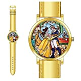 Beauty and the Beast Stained Glass Strap Watch