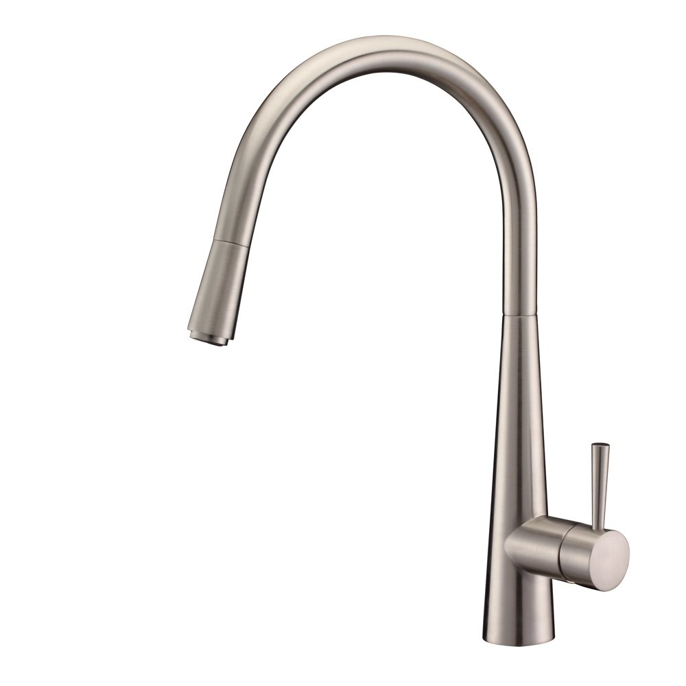 Ruvati RVF1221BN Single Handle Pull-Down Kitchen Faucet, Stainless ...