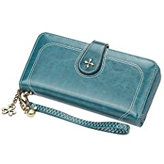 Features: Faux Leather.Roomy enough for fitting plenty of cards, change and some bills, Coins, keep them well organized.Pefect gift for womens or girls, which will bring them more sweet and beautiful.Specifications:Material: leatherColor:Wine...